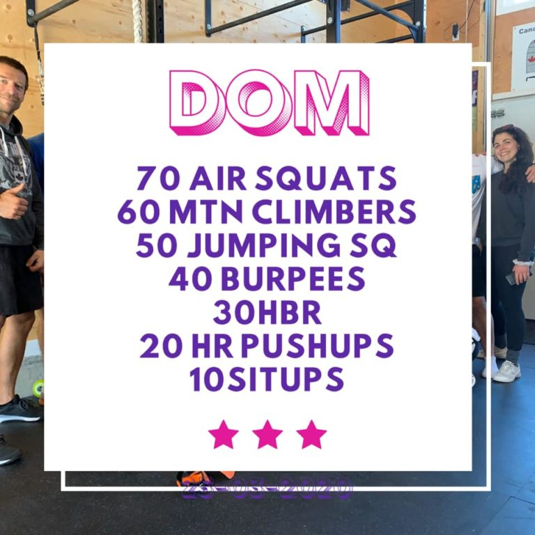HOME WORKOUT – 26/03/2020